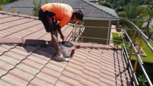 tile roof extension