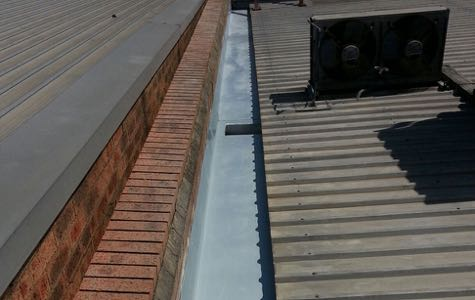 Commercial Box Gutter Replacement Allcoast Roofing Gold